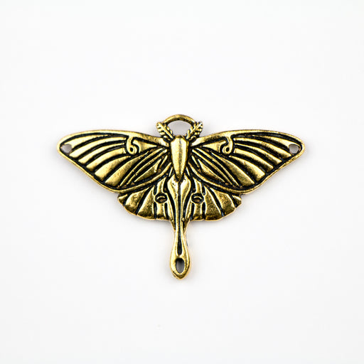 Luna Moth Pendant Link - Antique Gold Plate***