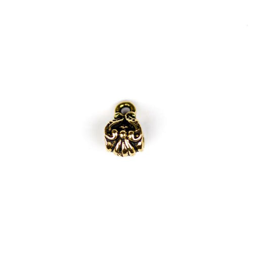 Victorian Bail Bead - Antique Gold Plate