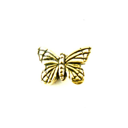 Monarch Butterfly Bead  - Antique Gold Plate
