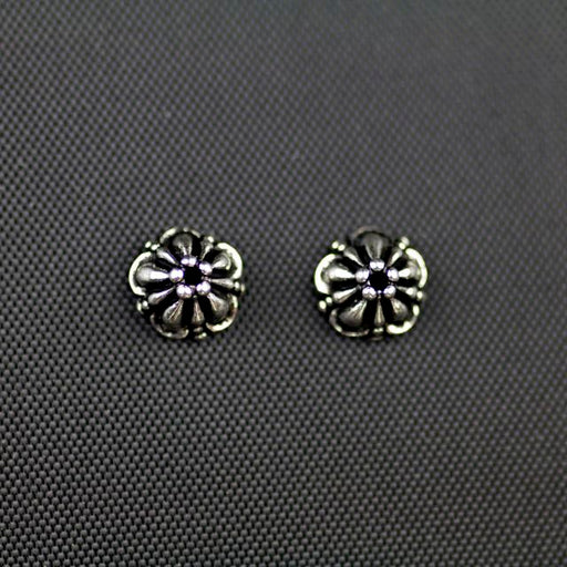 8mm Tiffany Beadcap - Antique Silver Plate