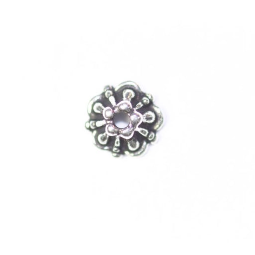 5.0mm Tiffany Beadcap - Antique Silver Plate