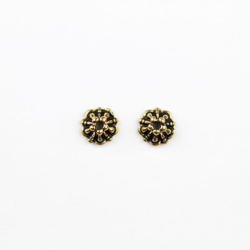 5.0mm Tiffany Beadcap - Antique Gold Plate