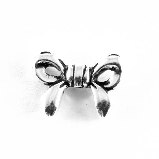 Bow Bead - Antique Silver Plate