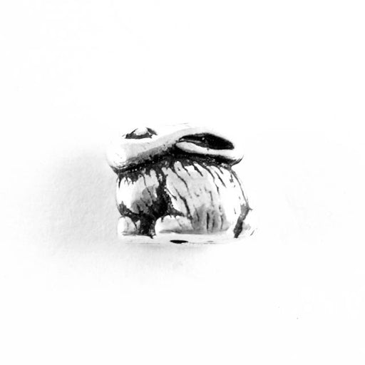 Bunny Bead - Antique Silver Plate