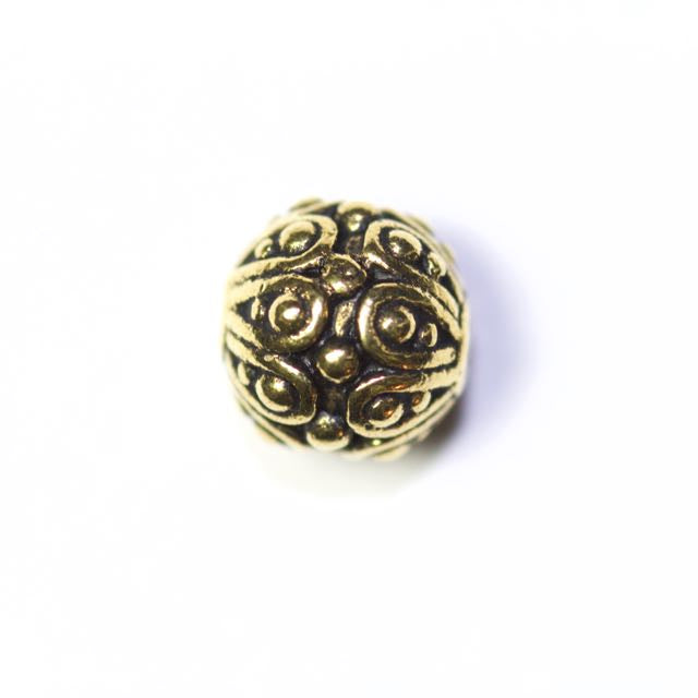 Casbah Round Bead - Antique Gold Plate