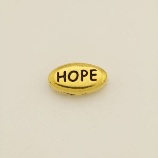 HOPE Bead - Antique Gold Plate