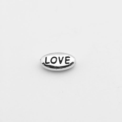 LOVE Bead - Antique Rhodium Plate