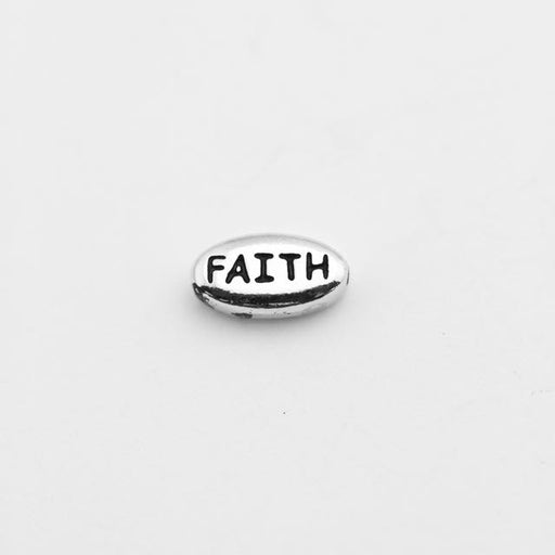FAITH Bead - Antique Rhodium Plate