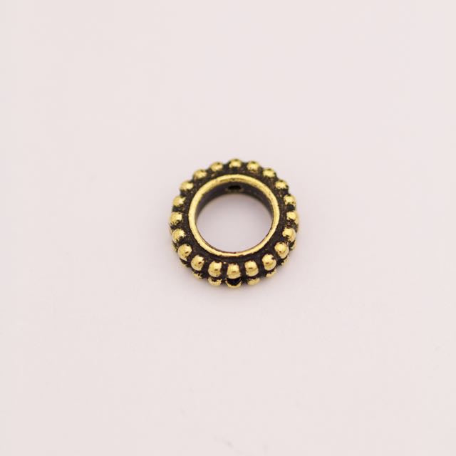 6mm Round Bead Frame - Antique Gold Plate