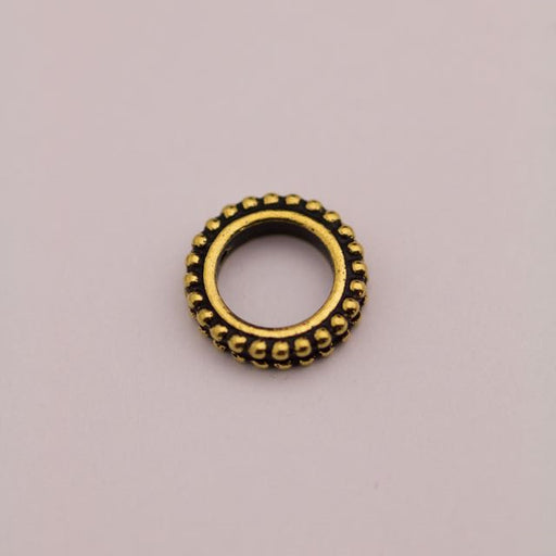 8mm Round Bead Frame - Antique Gold Plate