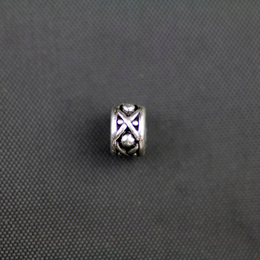 8mm Legend Bead - Antique Silver Plate