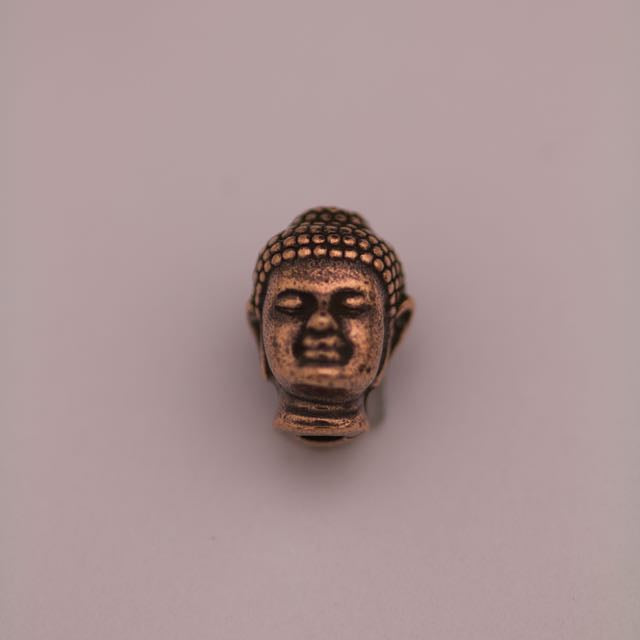 Buddha Bead - Antique Copper Plate