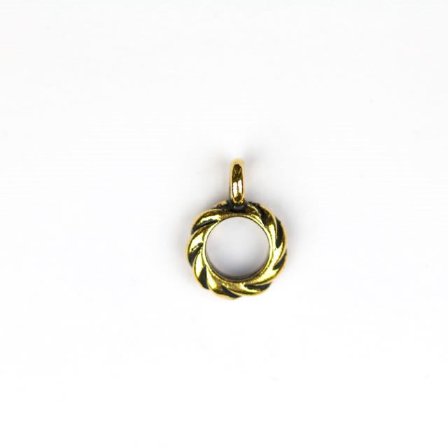 Twisted Bail - Antique Gold Plate