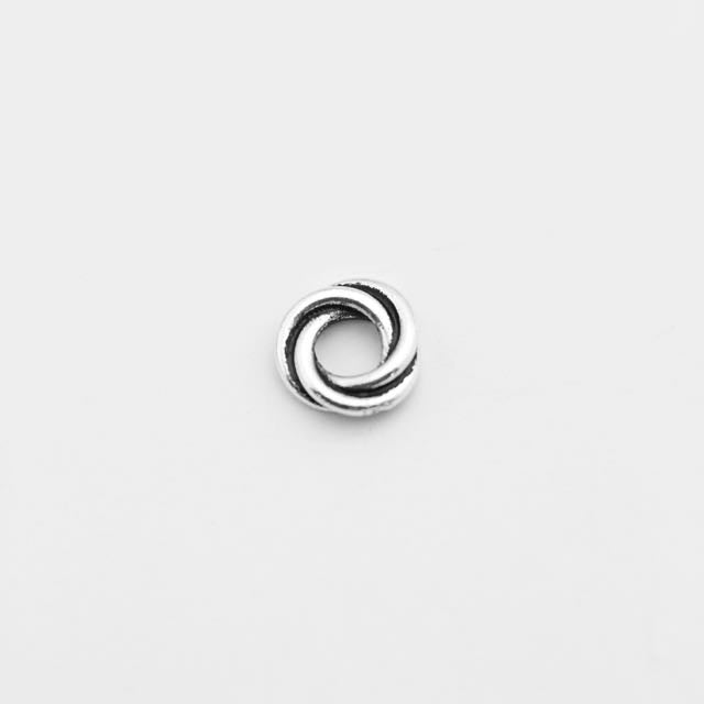8mm Twisted Spacer - Antique Silver Plate