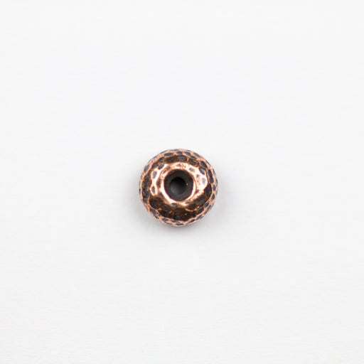 Hammertone Rondelle Bead - Antique Copper***