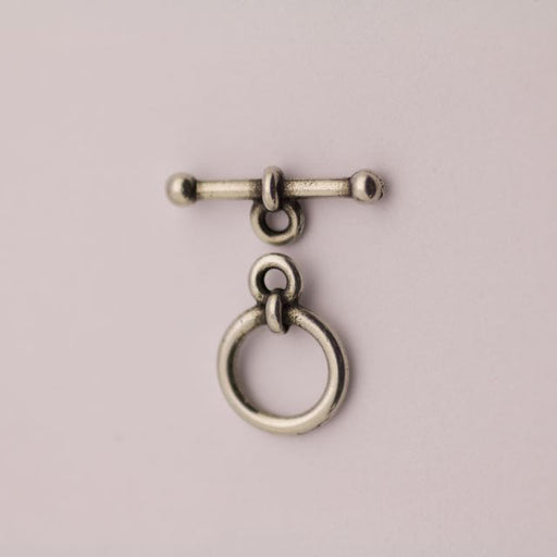 "3/8"" Ann Clasp Set - Antique Pewter"