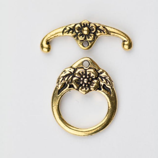 Floral Clasp Set - Antique Gold Plate