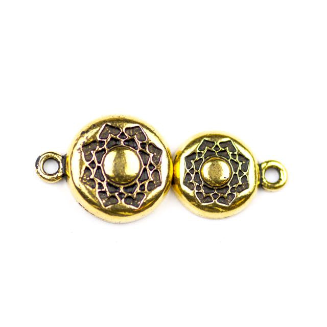 Lotus Magnetic Clasp - Antique Gold Plate