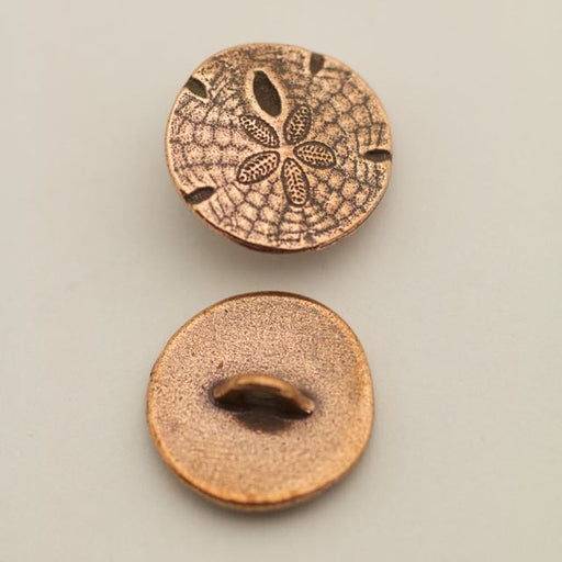 Sand Dollar Button - Antique Copper