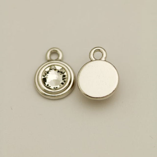 SS34 Stepped Bezel RB Charm (OD:12.0mm; Loop ID: 2