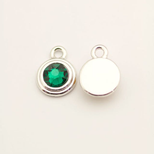 SS34 Stepped Bezel RB Charm - Emerald