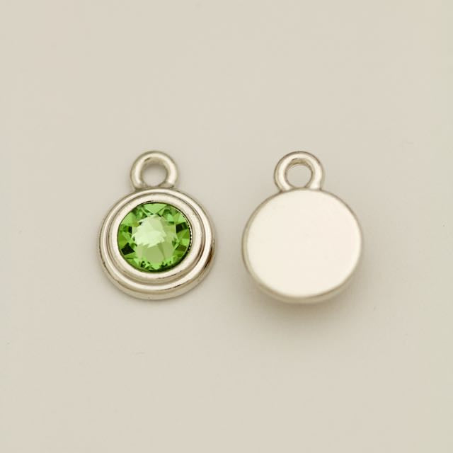 SS34 Stepped Bezel RB Charm - Peridot