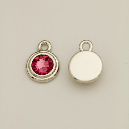 SS34 Stepped Bezel RB Charm - Rose