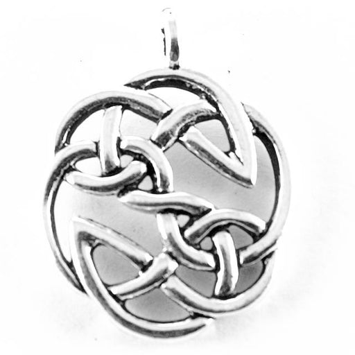 Open Knot Pendant - Antique Silver Plate