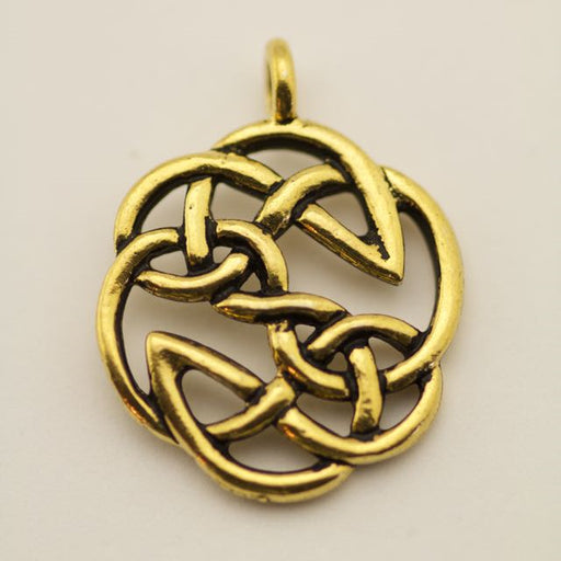 Open Knot Pendant - Antique Gold Plate