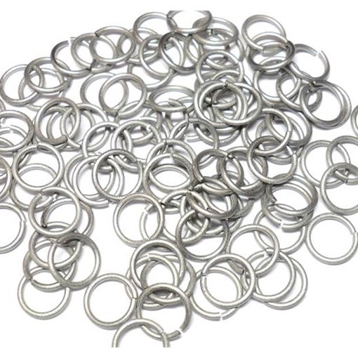 18swg (1.2mm) 9/32in. (7.80mm) ID 6.5AR Titanium Jump Rings