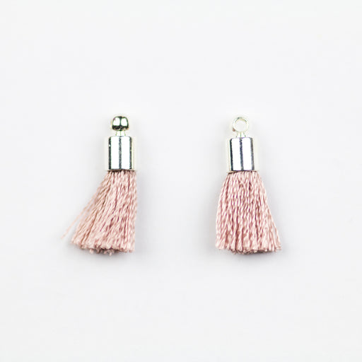 17-20mm Tassel with Silver Cap - Blush ***