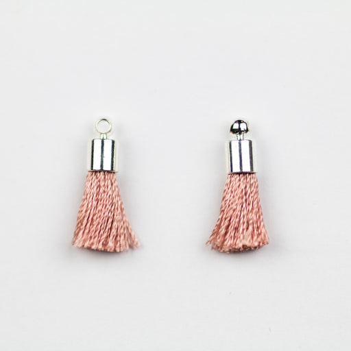 17-20mm Tassel with Silver Cap - Dusty Rose ***