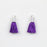 17-20mm Silk Tassel with Silver Cap - Purple