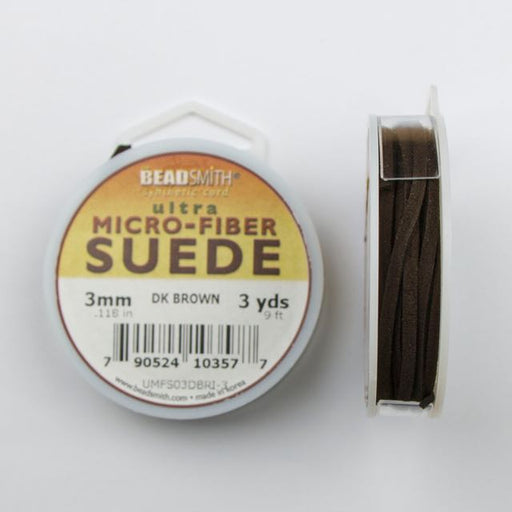2.74 meters (3 yards) of 3mm (.118 in.) Ultra Micro Fiber Suede - Dark Brown