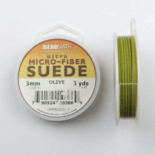2.74 meters (3 yards) of 3mm (.118 in.) Ultra Micro Fiber Suede - Olive