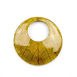 62.0mm Coconut Shell Backing Round with Cab-Caban Leaf