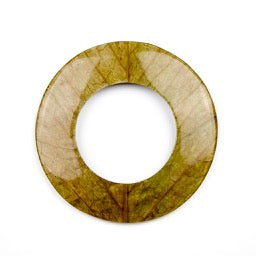 70.0mm Coconut Shell Backing Donut with Cab-Caban Leaf