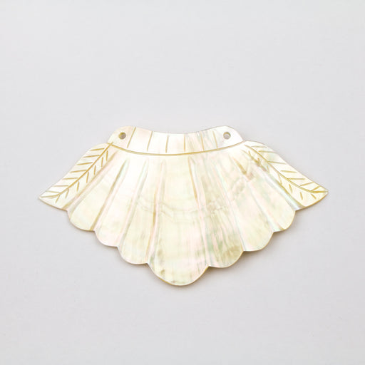 85.0mm x 40mm Mother of Pearl Feather Pendant***