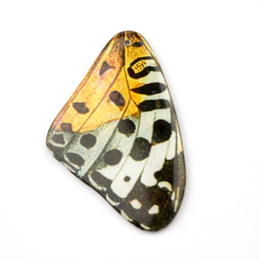 52.0mm x 34.0mm Paper Print Wrapped Laminated Butterfly***