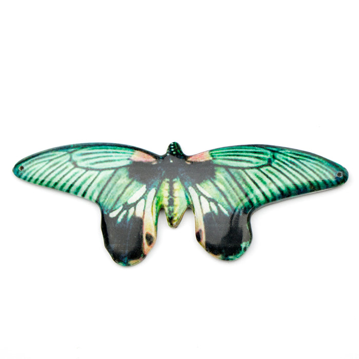 98.0mm x 36.0mm Paper Print Wrapped Laminated Papilla Butterfly***