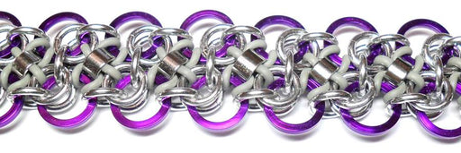 HyperLynks Arabesque Bracelet - Violet and Pewter