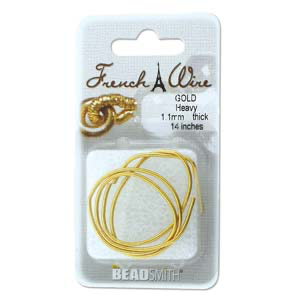 Gold .9mm French Wire Medium