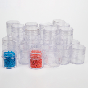 6.4 in x 5.4 in. Clear Plastic Covered Storage Box with 30 - 1 in. Square Containers