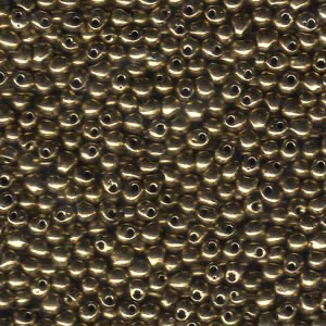 Miyuki 3.4mm DROP Bead - Metallic Dark Bronze