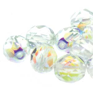 3mm Fire Polished Bead - Crystal AB