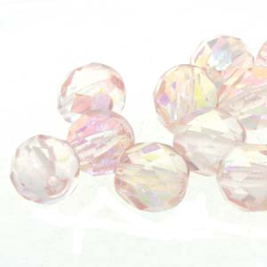 6mm Fire Polished Bead - Pink Ice