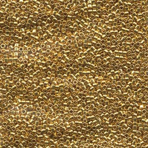11/0 Miyuki DELICA Bead Pack - 24kt Gold Plated