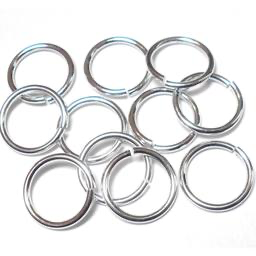 18swg (1.2mm) 25/64in. (11.2mm) ID 9.3AR Bright Aluminum Jump Rings