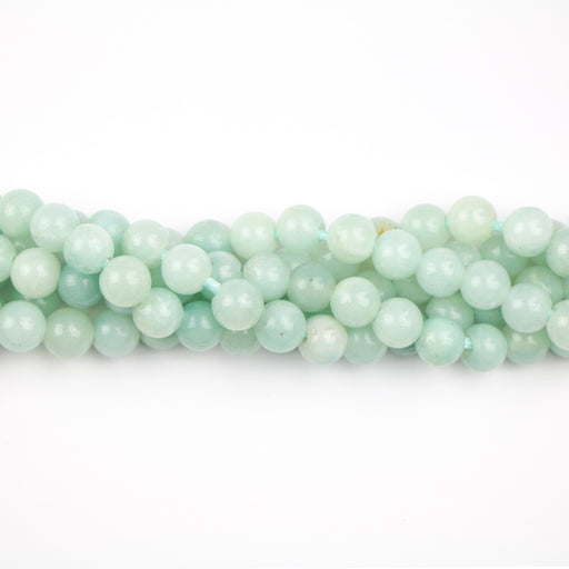 8mm Large Hole (2.5mm) Round AMAZONITE - 8 inch Strand***