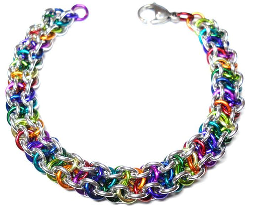 HyperLynks Vipera Berus Bracelet - Rainbow and Bright Aluminum